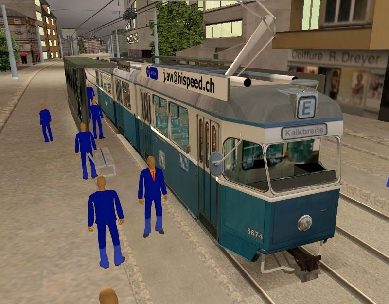 Mirage  Tram bei Station